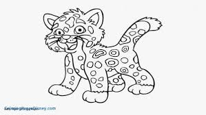 Baby Leopard Coloring Pages