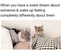 Weird Dream Quotes Best of When You Have A Weird Dream About Someone And Wake Feeling