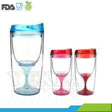 hot acrylic wine glass tumbler acrylic wine glass plastic wine glass sippy cup