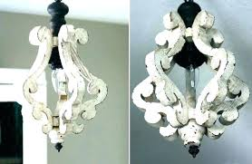 white distressed chandelier chandeliers wooden farmhouse 5 light essed orb antique wood