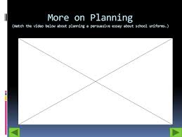 persuasive writing ppt 10 more on planning watch the video below about planning a persuasive essay about school uniforms