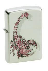 "<b>Зажигалка Zippo</b> ""Classic. <b>Scorpion Color</b>"", 3,6 х 1,2 х 5,6 см"