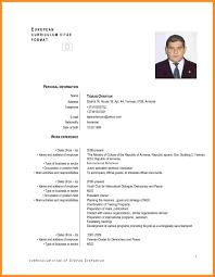 8 Cv Example In English Fillin Resume