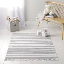 wondrous grey striped rug and white designs