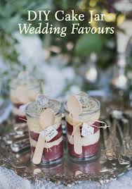 wedding favour cakes. DIY Cake Jar Wedding Favours