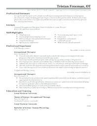 Occupational Therapy Resume Template Inspiration Sample Ot Resume Resume Tutorial Pro