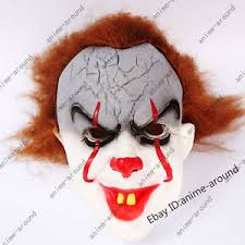 pennywise the dancing clown bob gray mask it horror helmet latex  la foto se esta cargando pennywise the dancing clown bob gray mask it
