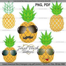 pineapple with sunglasses clipart. pineapple vector image, instant download, digital clipart, personal commercial use, paper crafts, card making scrapbooking print, web design with sunglasses clipart t