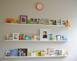 ikea ribba picture ledge turned book shelf sita montgomery interiors