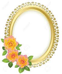 gold frame border vector.  Gold 1092x1300 Yellow Rose Clipart Gold Border With Gold Frame Border Vector
