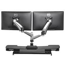 standing desk dual monitor arm main 4