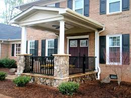 mid century modern front porch. Small House Front Porch Contemporary Mid Century Modern Exterior Railing Decorating Ideas Designs W