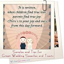 Tips And Samples Of Great Wedding Speeches And Toasts
