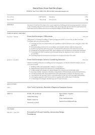Web Developer Cv Front End Developer Resume Guide Sample Resumeviking Com