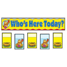 Whos Here Today Chart Attendance Replacement Cards Pocket Charts Cd 158006