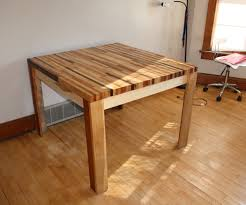 Chopping Table Kitchen Butcher Block Hardwood Table 5 Steps With Pictures