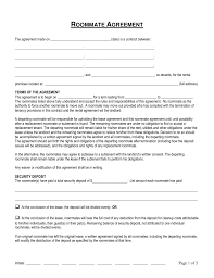Roommate Rental Agreement Free Connecticut Roommate Room Rental Agreement Form Word PDF 4
