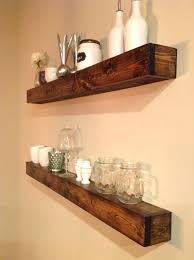 butcher block shelves dots and details floating living wooden wall float