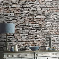 Arthouse VIP Moroccan Stone Wall Brick Photographic Wallpaper 623000