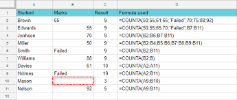 Count And Counta Functions In Google Sheets With Formula