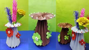 Paper Flower Base How To Make A Paper Flower Vase Diy Paper Vase Handmade Very Easy