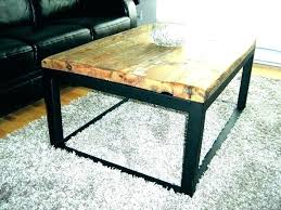 coffee table base iron metal legs pipe tulip only round wood top live edge