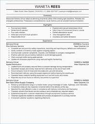 New Truck Driver Resume Sample Fresh Fedex Driver Resume Fluently