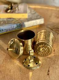 Kitchen mart stainless steel south indian filter coffee drip maker: South Indian Brass Coffee Filter Ministry Of Kaapi
