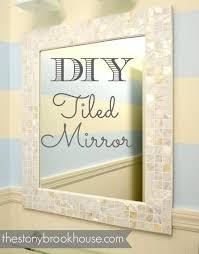 How To Make A Custom Tiled Mirror The Stonybrook House