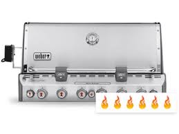 built in 6 burner grills