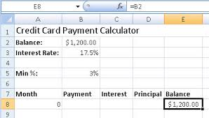 Minimum Credit Card Payment How To Create A Credit Card Payment Calculator