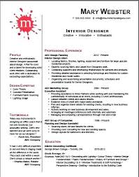 Designer Resume Sample Best of Interior Design Resume Sample Interior Design Resume Template