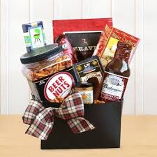 budweiser and bbq gourmet gift basket for him