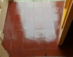 quarry tiled porch after cleaning sealing width