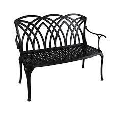 china cast aluminum garden bench
