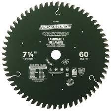 masterforce reg 7 1 4 x 60 tooth laminate melamine circular