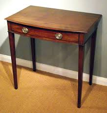 antique hall table. Antique Bow Front Side Table / Georgian Mahogany Hall Antique R