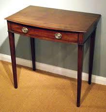 mahogany hall table. antique bow front side table / georgian mahogany hall