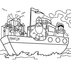 Sint Kleurplaten Pakjesboot