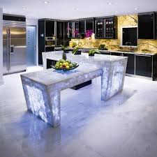 backlit kitchen countertop