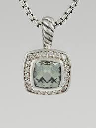 david yurman 7mm prasiolite and diamonds petite albion pendant necklace