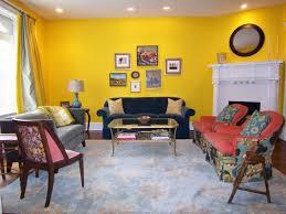 Yellow Wall Living Room Decor Yellow Wall Living Room Sneiracom