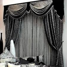 Of Curtains For Living Room Black Color Curtain Design For Contemporary Living Room