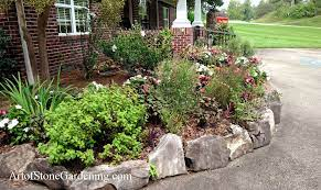 using stone for landscape borders and