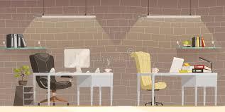 download modern office desk lighting cartoon poster stock vector illustration of business interior desk lighting solutions r95 desk