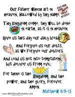 The Lords Prayer Coloring Pages Printable Free Coloring Library
