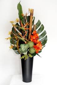 Artificial Flower Arrangements Tropical Orchids, How to Arrange Artificial  Flowers in a Tall Vase, tutorial pictures for fake silk floral developments  how ...