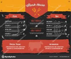 Steak Menu Design Steak Menu Design Bbq Grill Poster With Sketch Icons