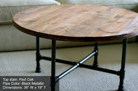 black pipe strong durable distressed round coffee table manufactured unbelievable living rooms decors