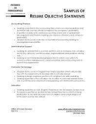 Examples Of Good Objectives For Resumes Englishor Com